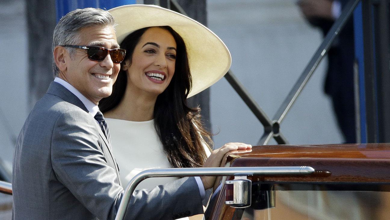 George Clooney Amal Alamuddin Venice - H 2014