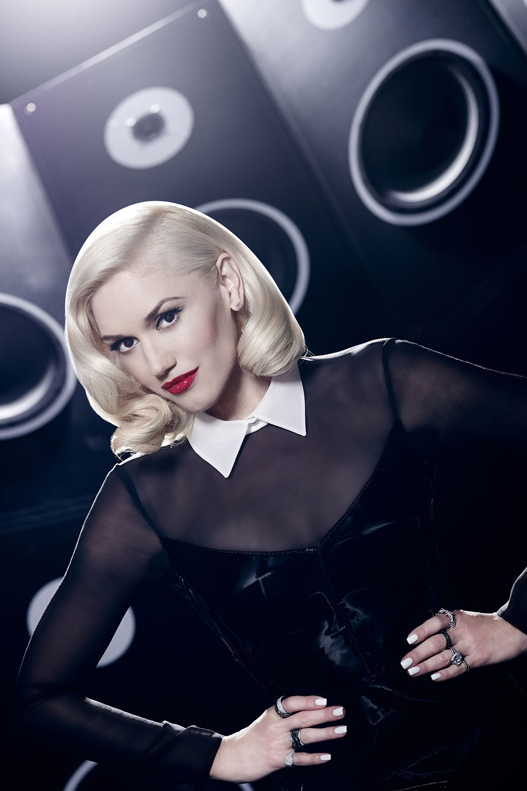 Gwen Stefani The Voice Portrait - P 2014