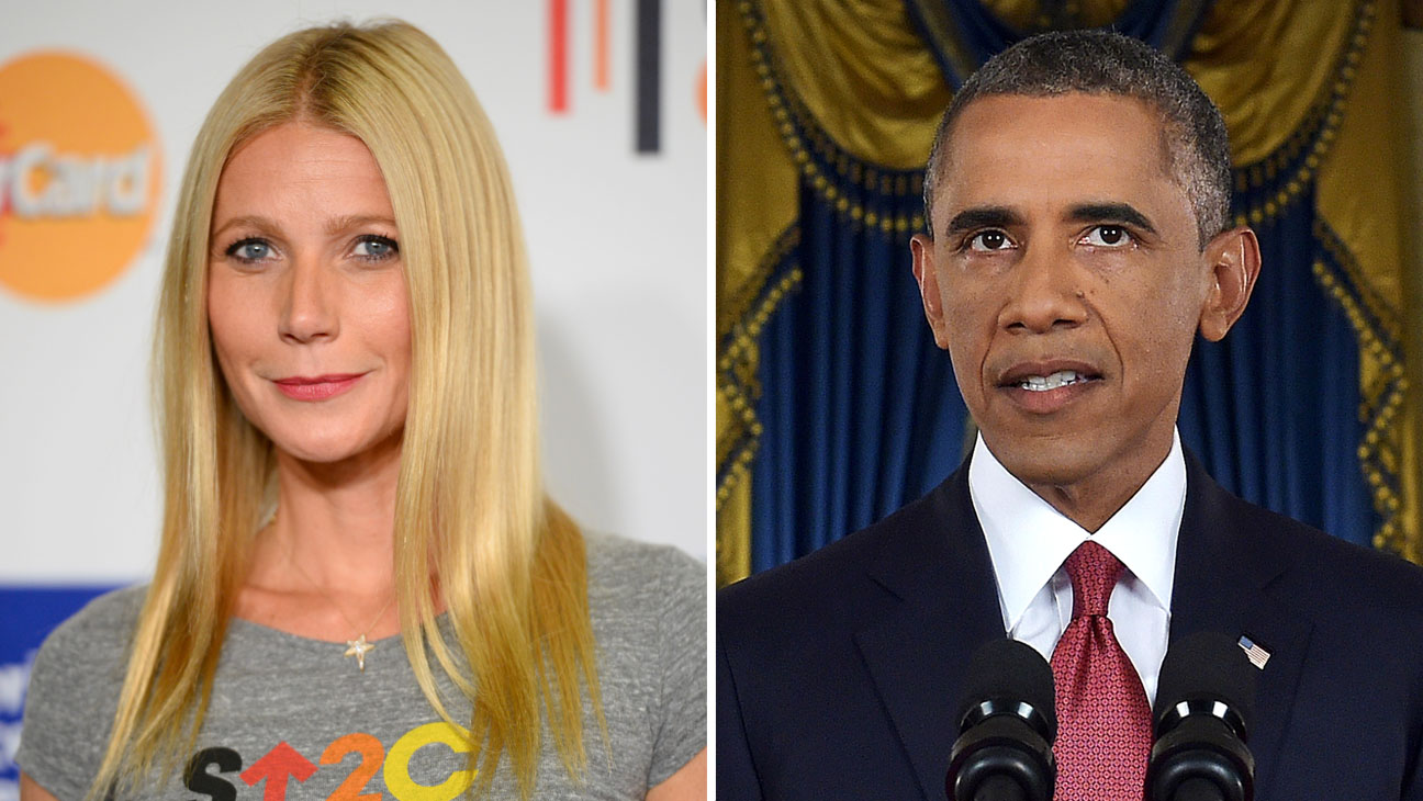 Gwyneth Paltrow Barack Obama Split - H 2014