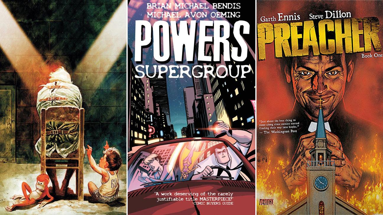 Last Man Powers Preacher Comics - H 2014