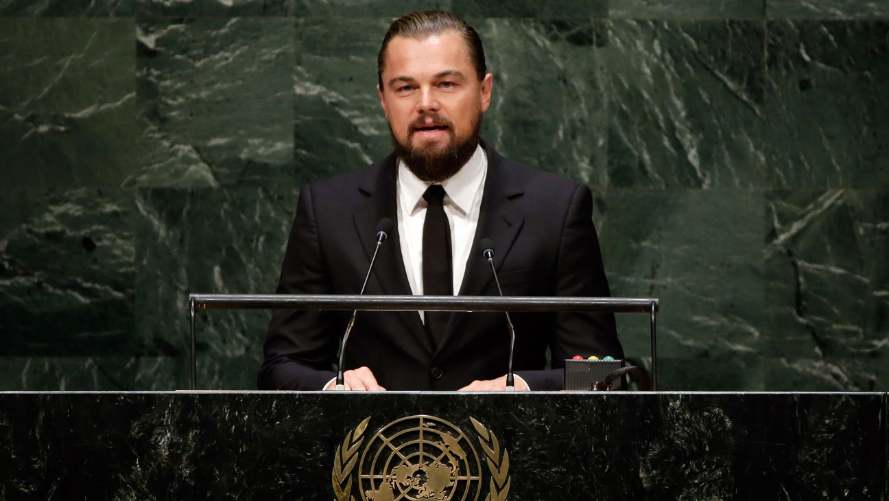 Leonardo DiCaprio U.N. Summit - H 2014