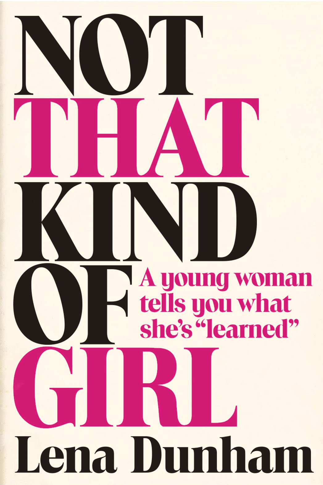 Not that Kind of Girl Cover - P 2014