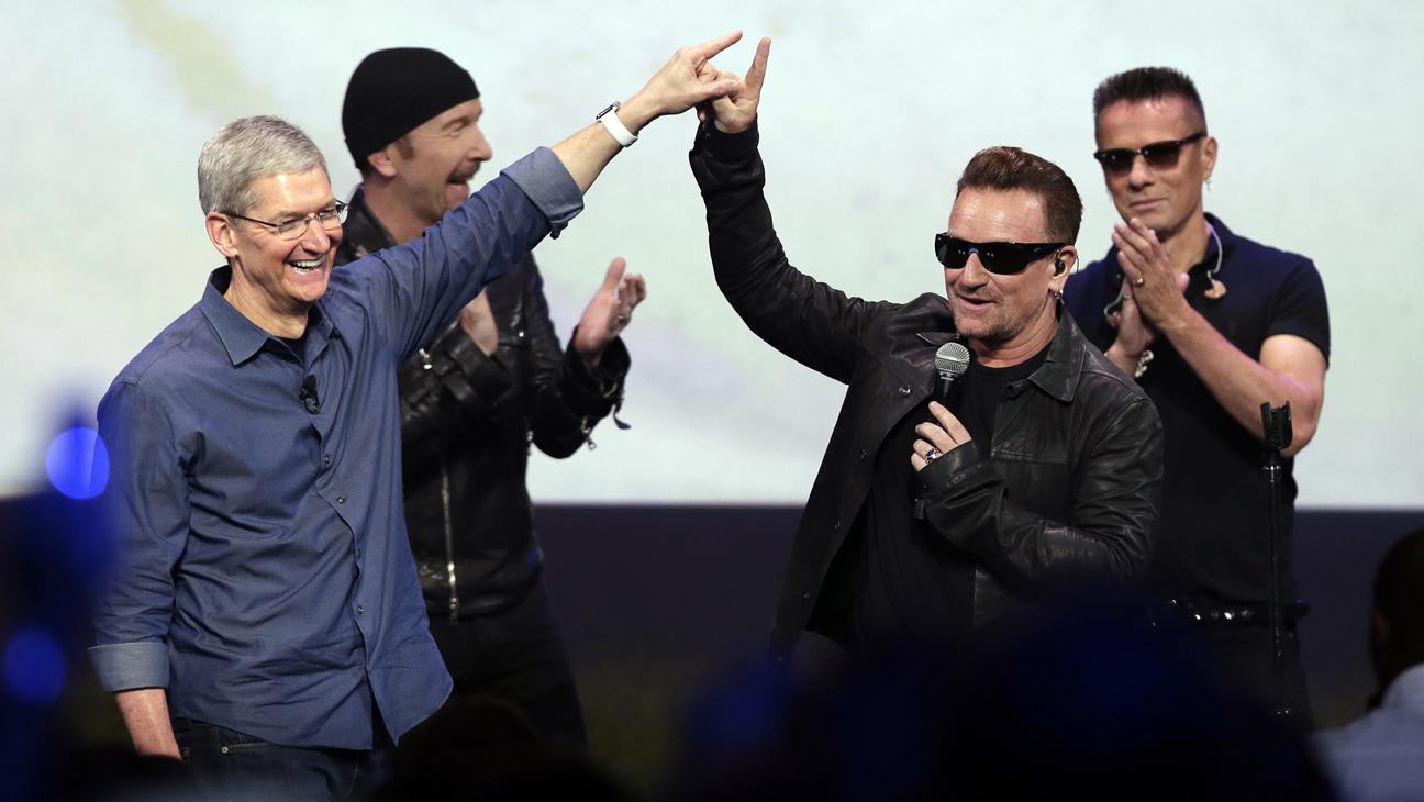 U2 Apple Bono Tim Cook 2014 L