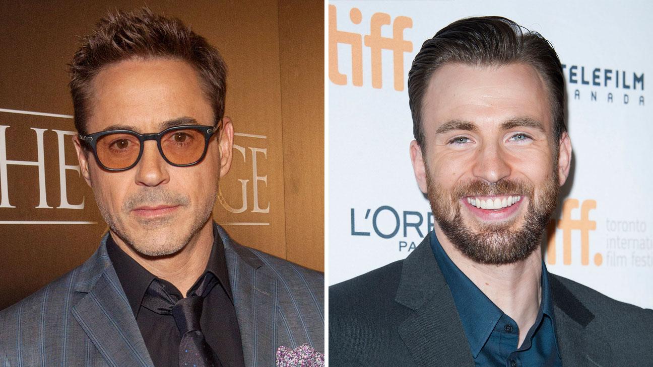 Robert Downey Jr. Chris Evans Split - H 2014
