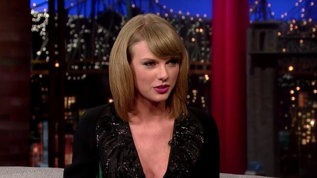 Taylor Swift Late Show Still - H 2014