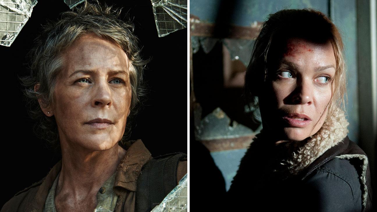 The Walking Dead Melissa McBride and Laurie Holden Split - H 2014