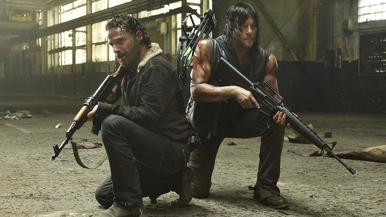 The Walking Dead S05E01 Rick Grimes Daryl Dixon Still - H 2014