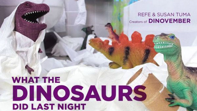 What the Dinosaurs did Last Night Cover - H 2014