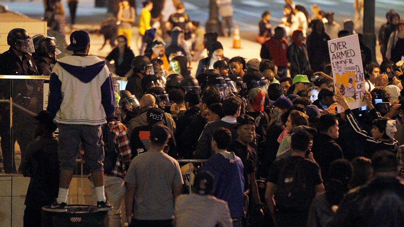 Ferguson Los Angeles Protest - H 2014