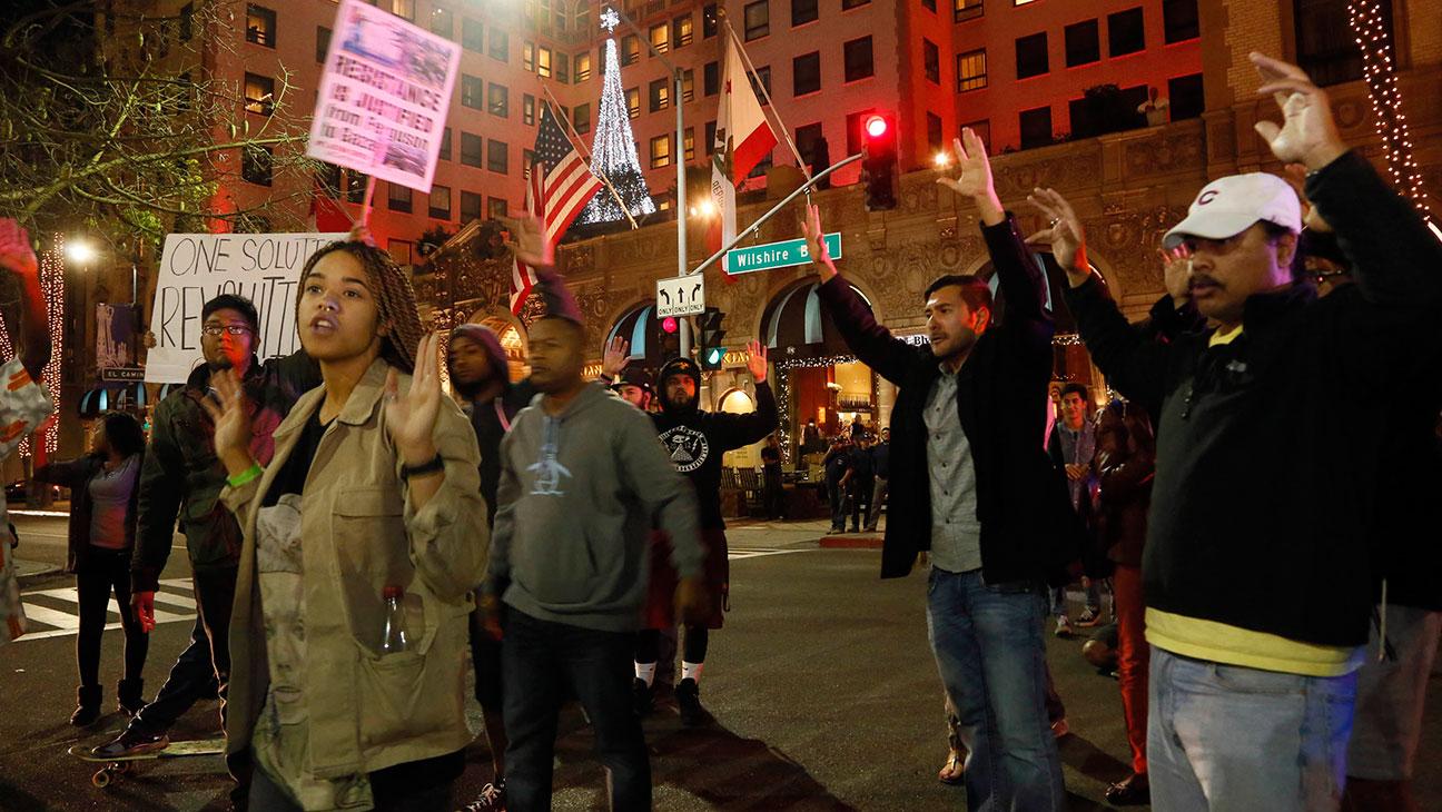 Beverly Hills Protest of Ferguson - H 2014