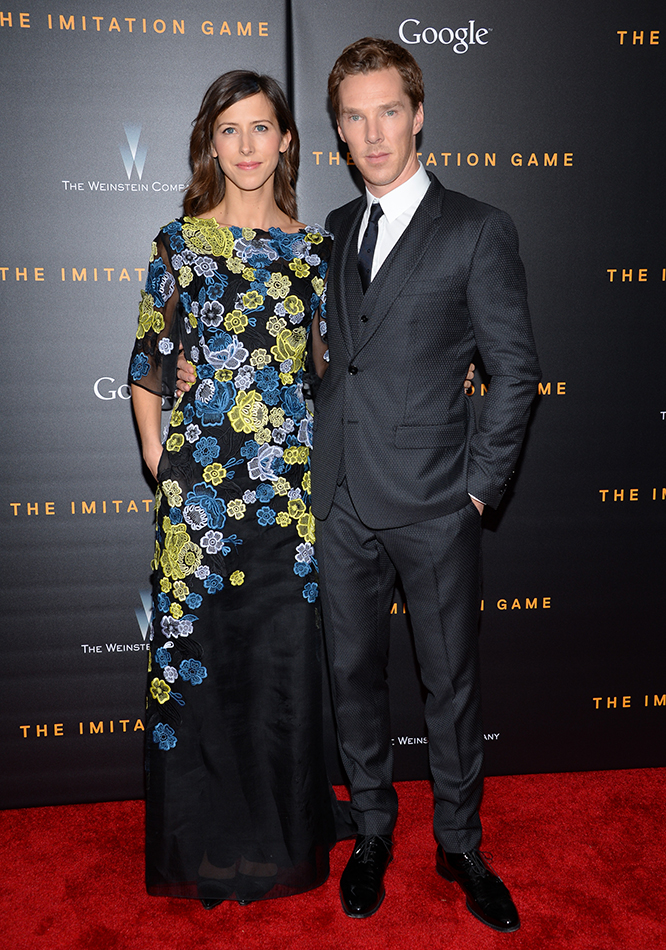 Benedict Cumberbatch Sophie Hunter Imitation Game Premiere P 2014