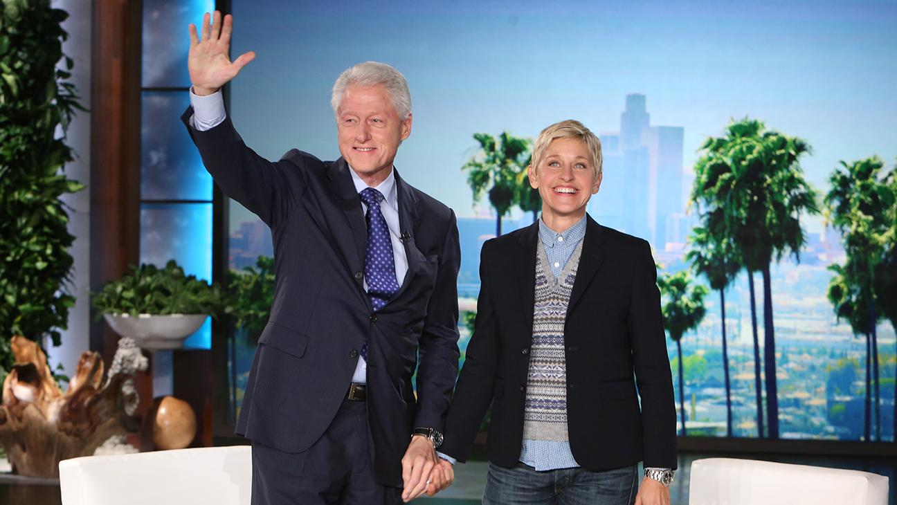 Bill Clinton Ellen Degeneres H 2014