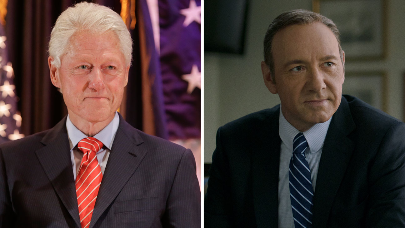 Bill Clinton Kevin Spacey Split - H 2014