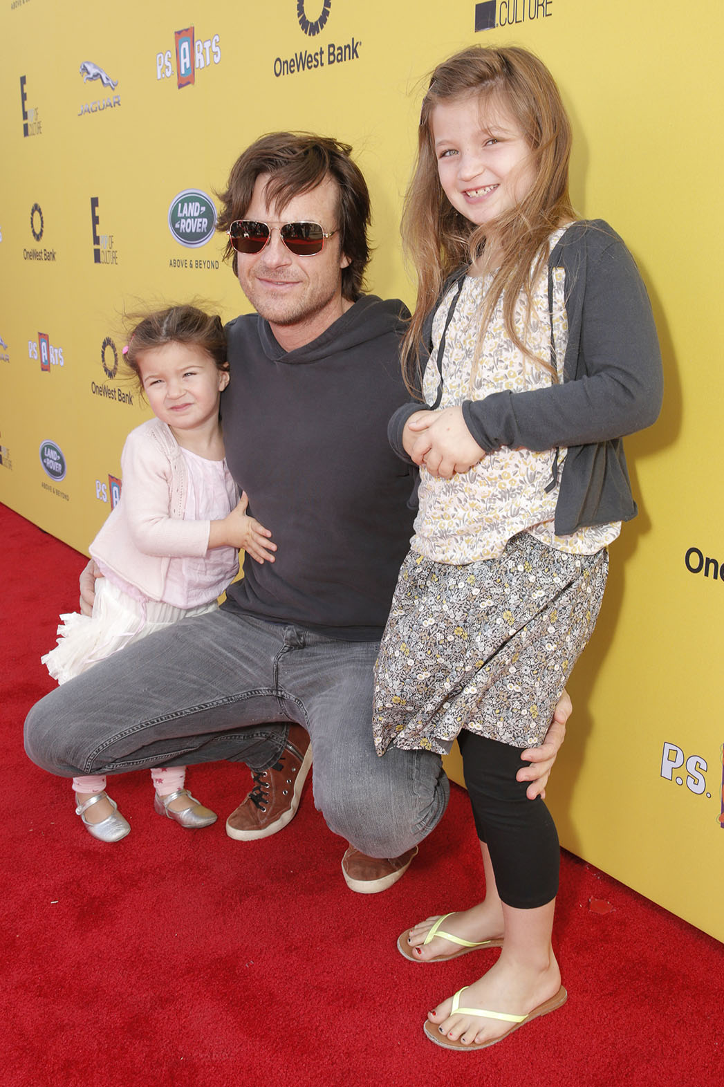 Jason Bateman with his two kids at P.S. Arts Express Yourself - p 2014
