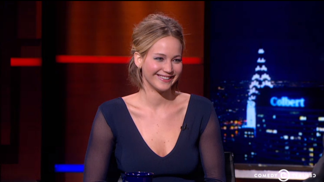 Jennifer Lawrence Colbert Report - H- 2014