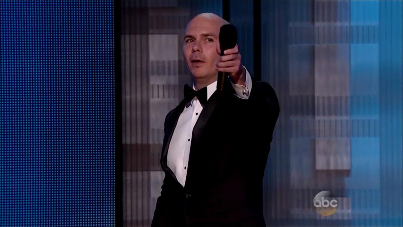 Pitbull AMAs Performance Still - H 2014