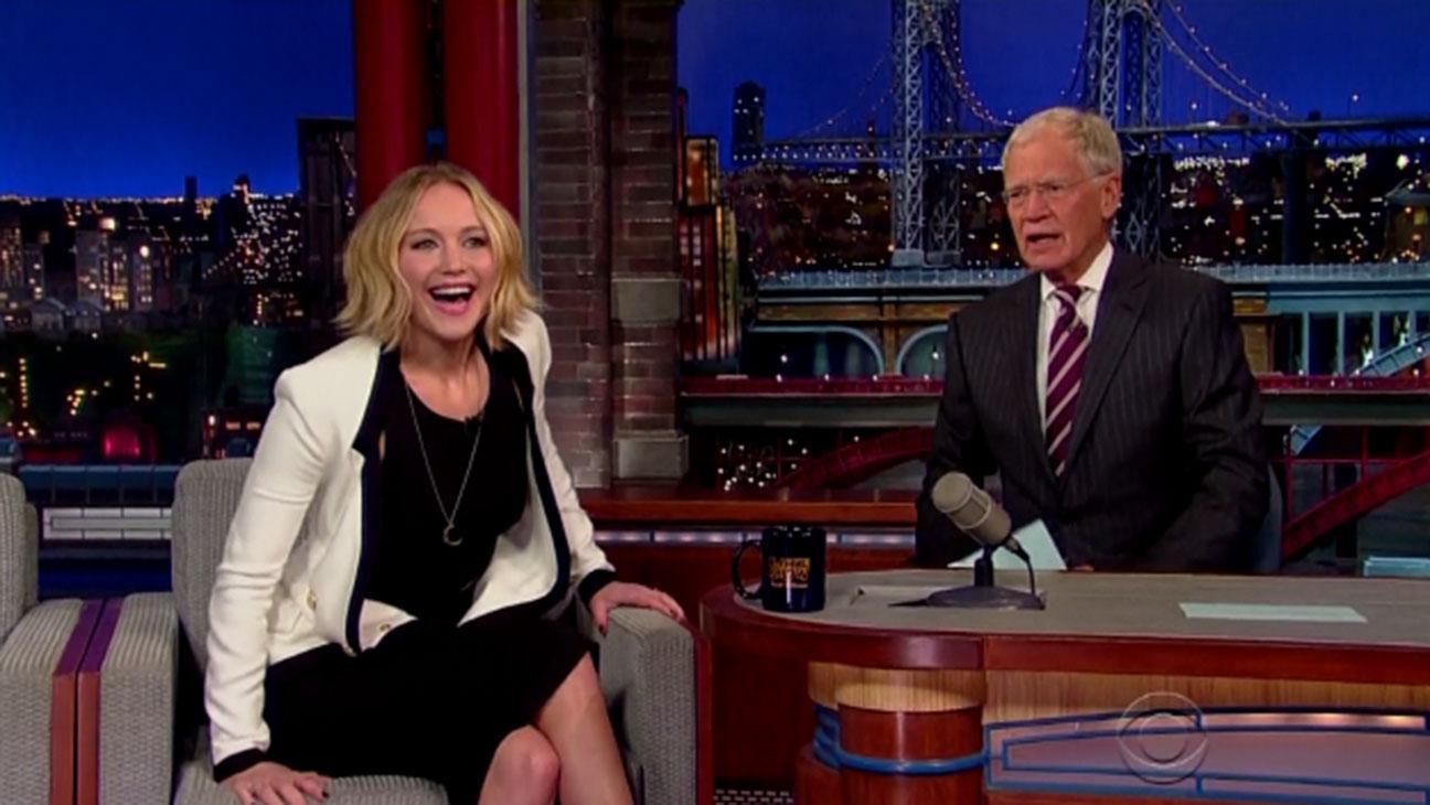 Jennifer Lawrence David Letterman - H 2014