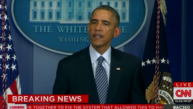 Barack Obama Ferguson Screengrab - H 2014