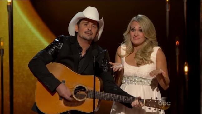 Carrie Underwood Brad Paisley CMAs Still - H 2014