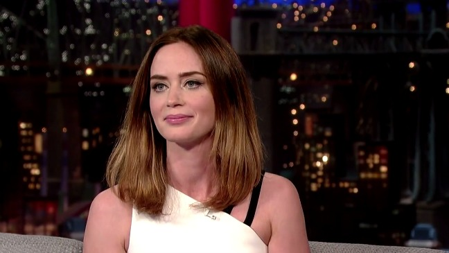 Emily Blunt Late Show Still - H 2014
