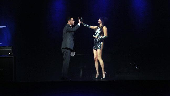 Jimmy Kimmel Kacey Musgraves Hologram Still - H 2014