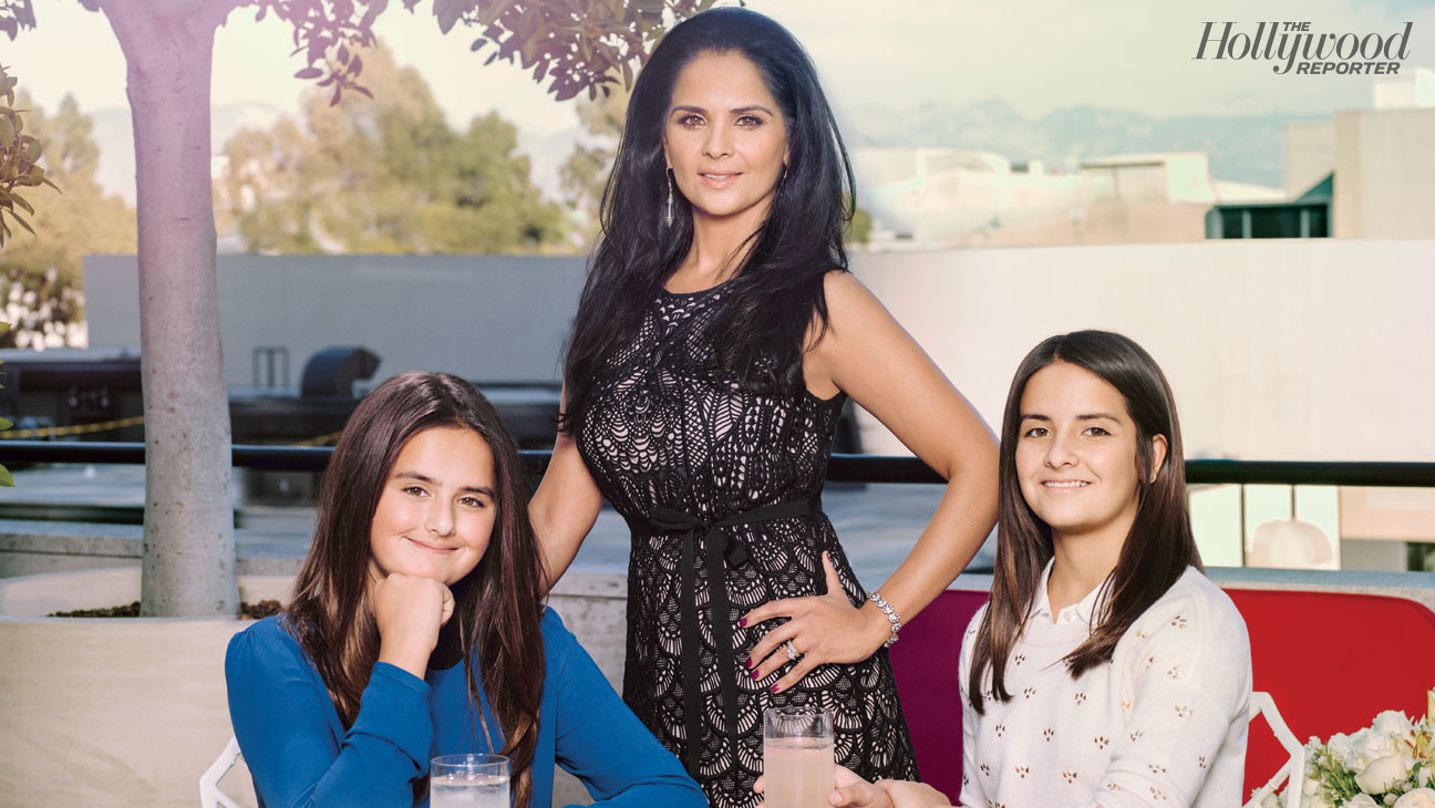 Bela Bajaria and daughters Rami and Sofia