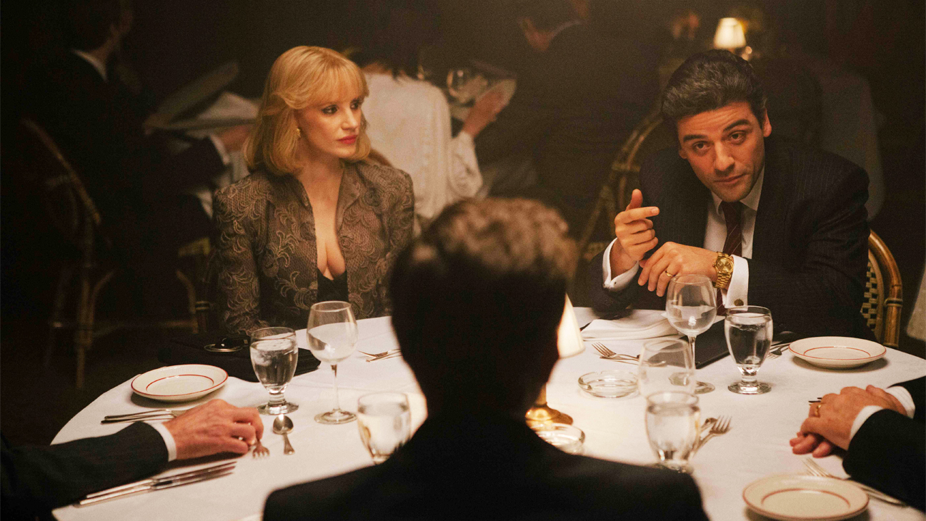 A Most Violent Year Jessica Chastain Oscar Isaac at Dinner - H 2014