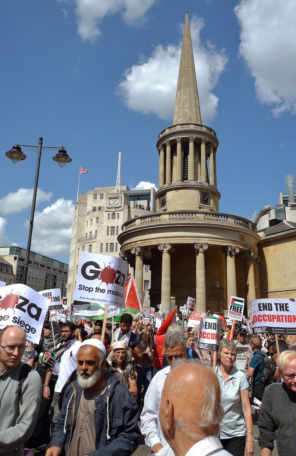 Gaza Protest BBC P 2014