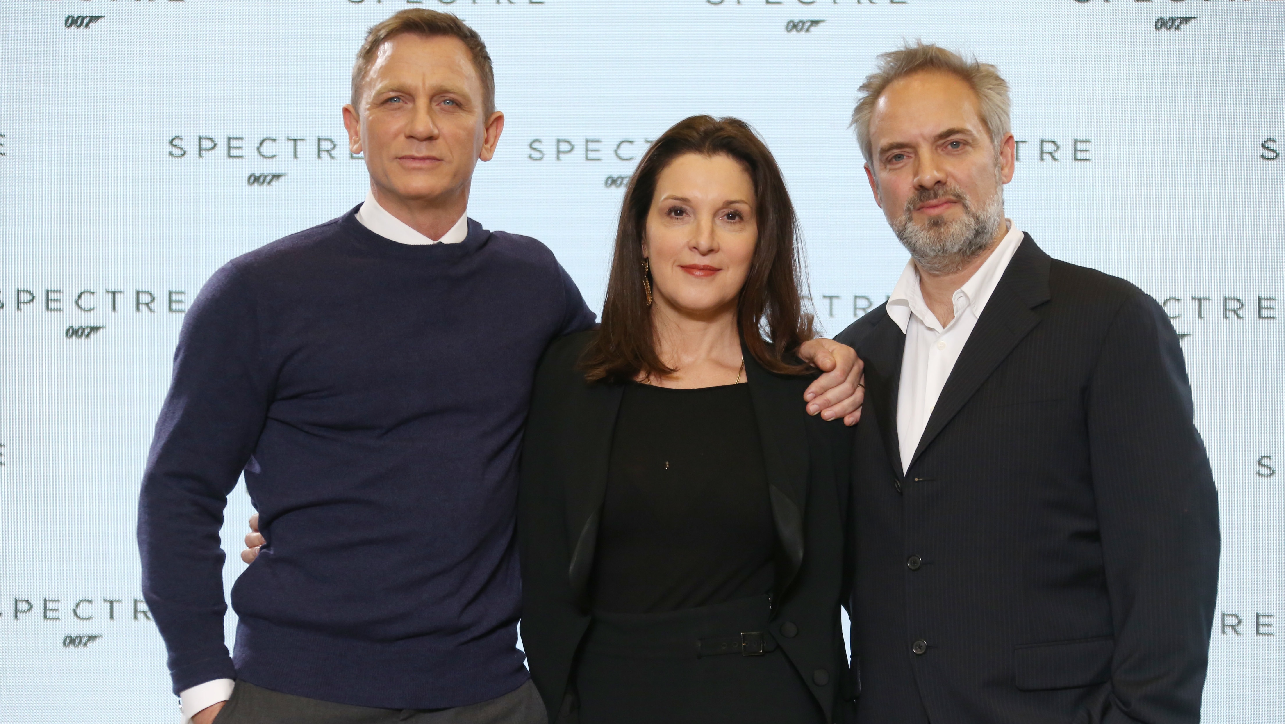 Daniel Craig and Sam Mendes at New James Bond Film 'Spectre' Announcement - H 2014