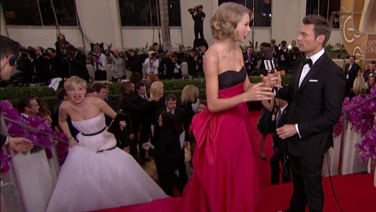 Jennifer Lawrence Taylor Swift H 2014