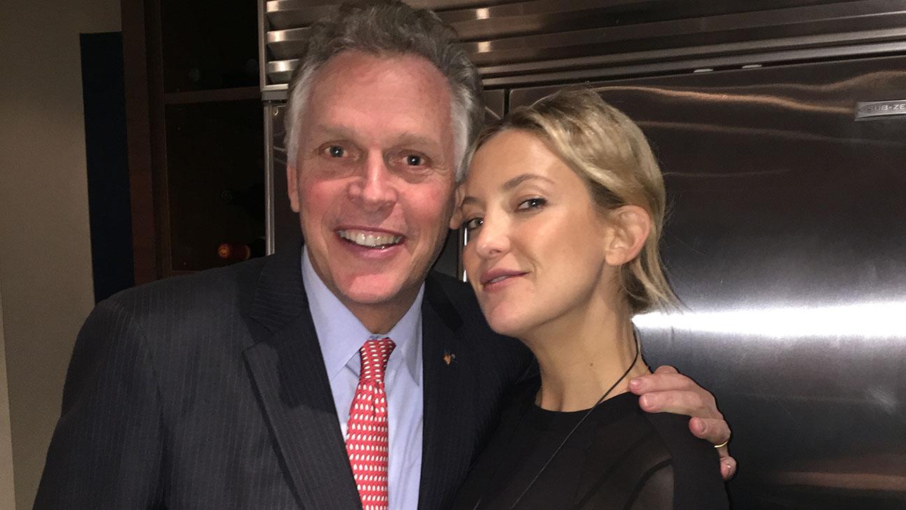 Kate Hudson and VA Governor Terry McAuliffe - H 2014