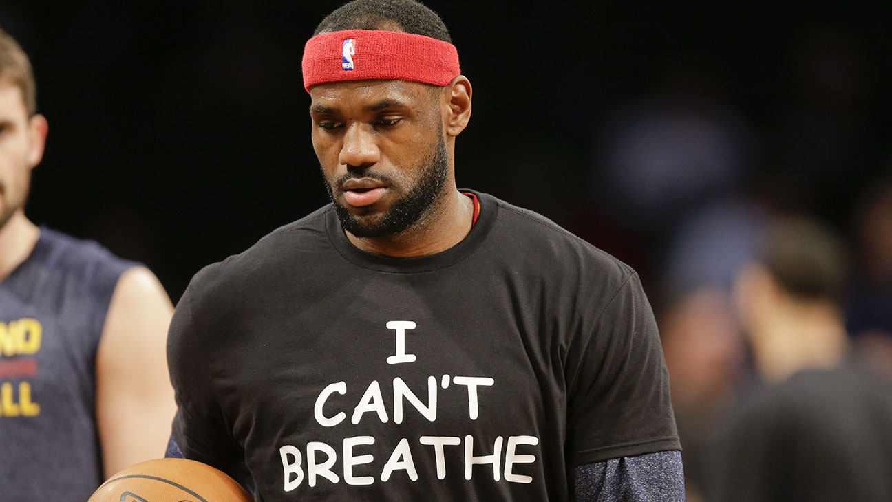 LeBron James I can't breathe shirt - H 2014
