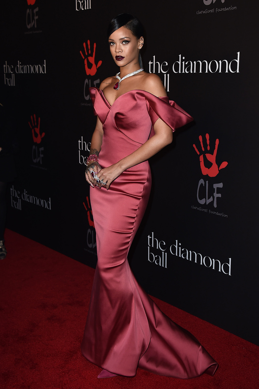 Rihanna Throws Inaugural Diamond Ball Performs In A Ball Gown Hollywood Reporter