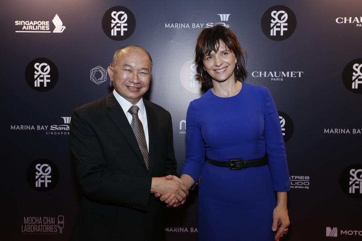 John Woo and Juliette Binoche Singapore H 2014