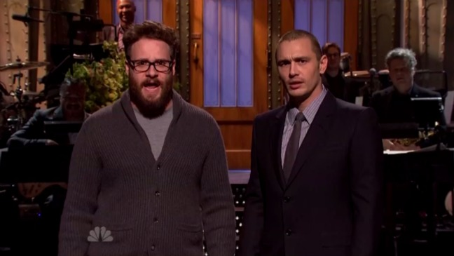 Seth Rogen James Franco SNL Still - H 2014