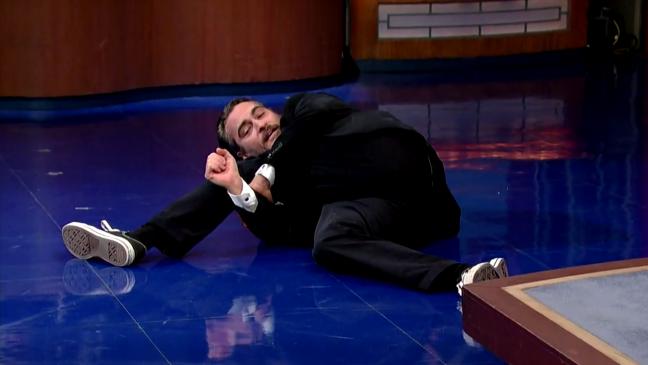 Joaquin Phoenix Late Show Still - H 2014