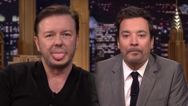 Ricky Gervais Lip Flip Still - H 2014