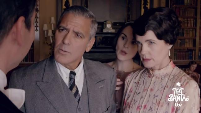 George Clooney Downton Abbey Still - H 2014
