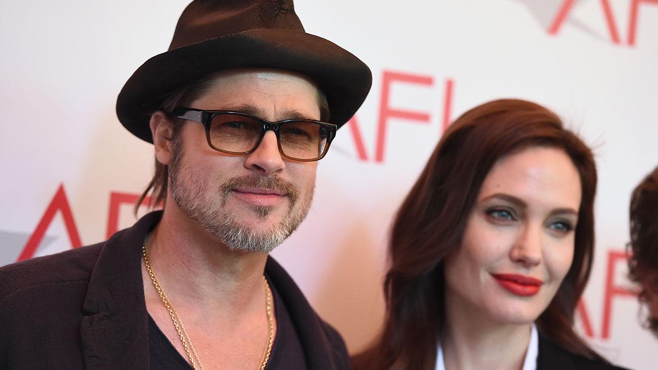 Brad Pitt Angelina Jolie AFI Awards Luncheon - H 2015