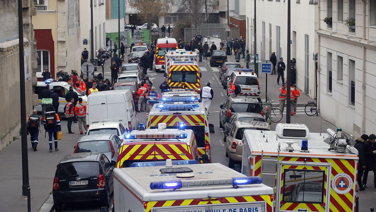 Charlie Hebdo Scene Paris - H 2015
