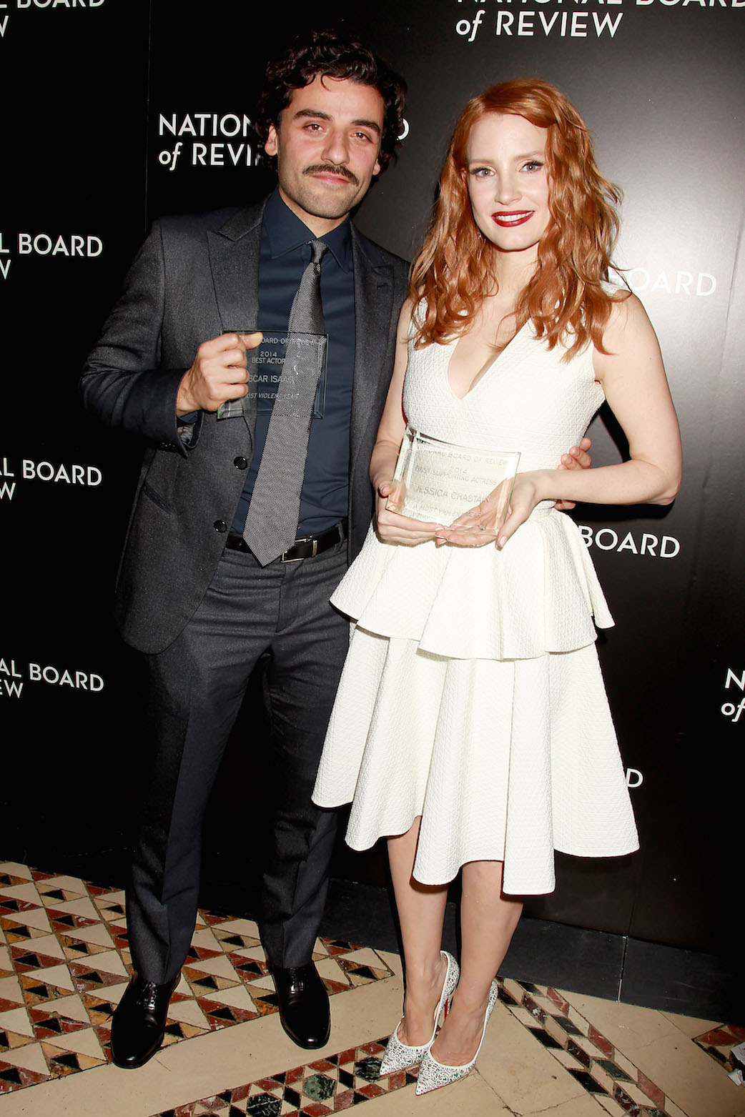Oscar Isaac Jessica Chastain NBR P 2015
