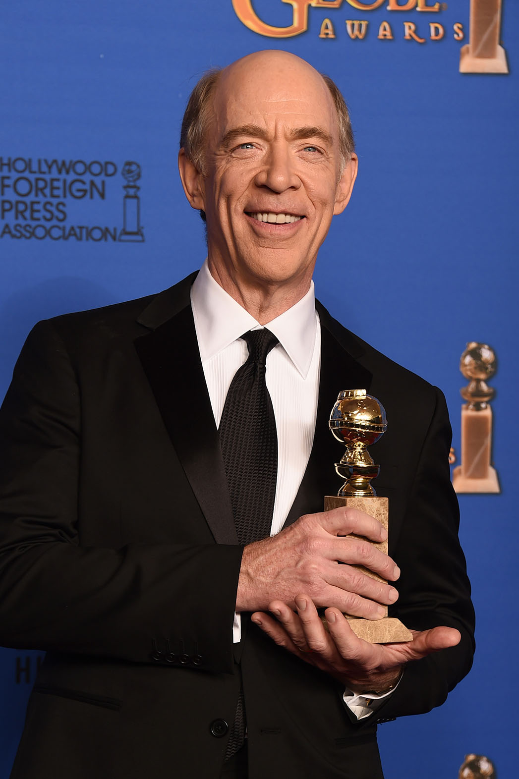 J.K. Simmons Golden Globes Press Room- H 2015