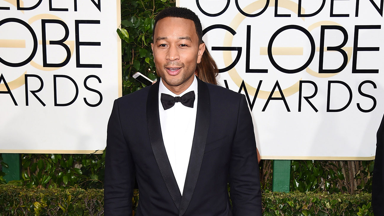 John Legend Golden Globes Carpet - H 2015