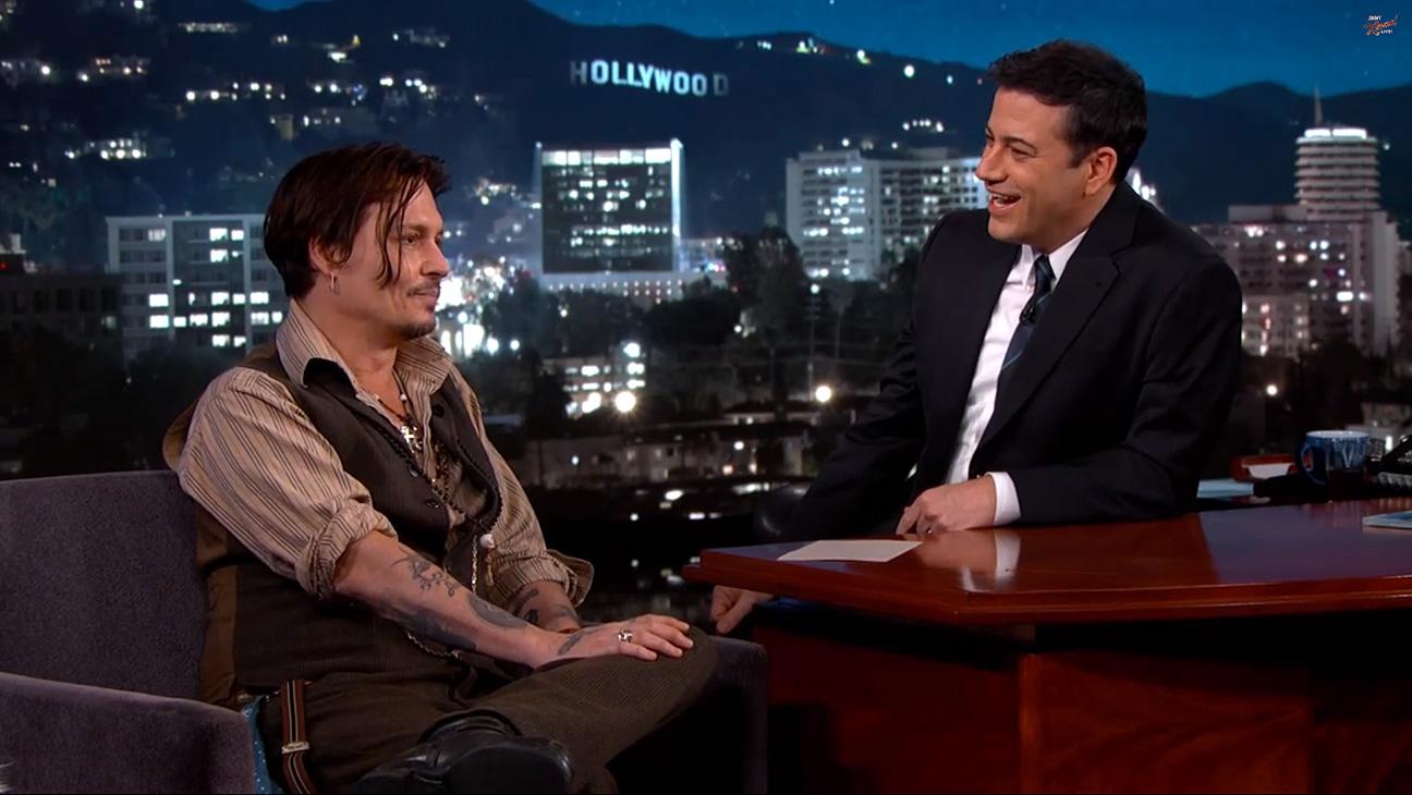 Johnny Depp Jimmy Kimmel - H 2015