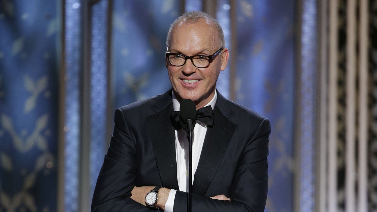 Michael Keaton Onstage Golden Globes 2 - H 2015