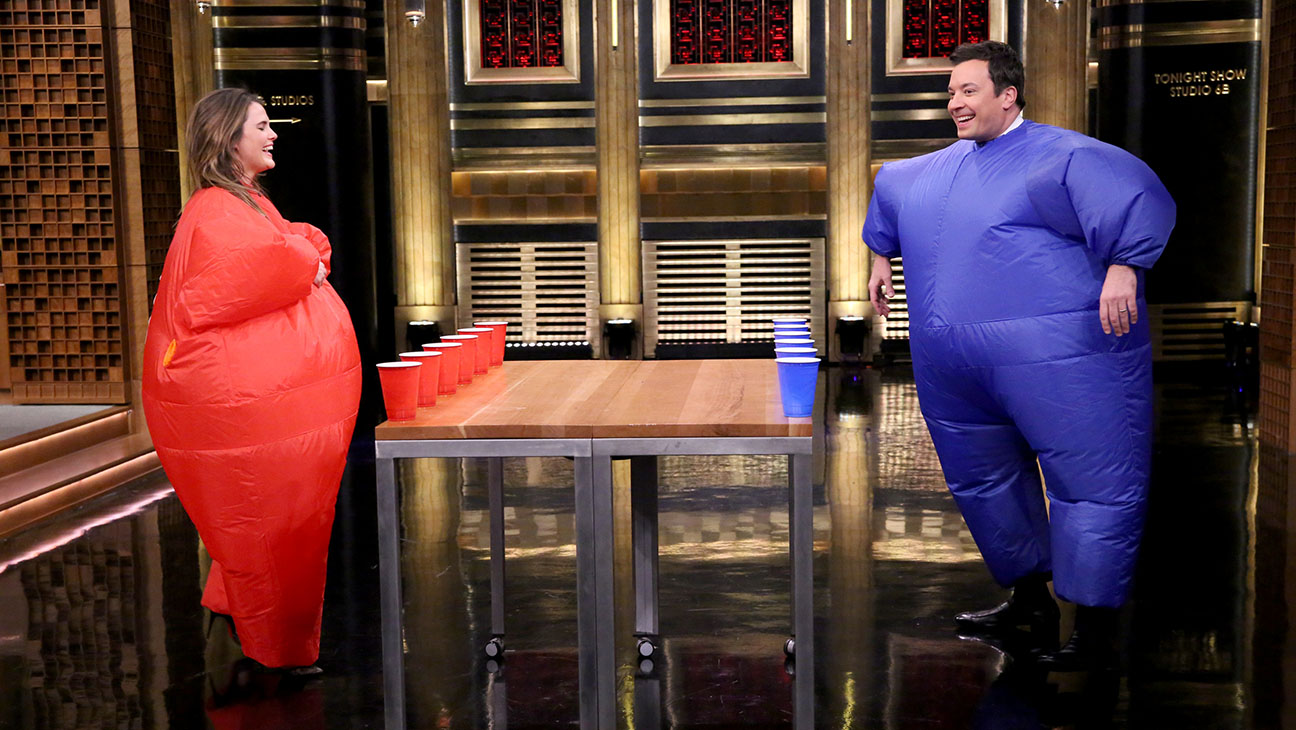 The Tonight Show starring Jimmy Fallon Keri Russell Inflatable Flip Cup - H 2015