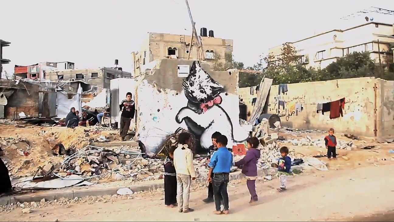 Banksy Gaza Video - H 2015