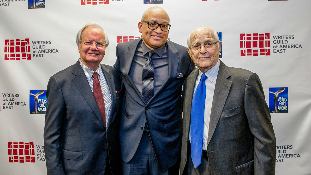 Bill Moyers Larry Wilmore Norman Lear WGA H 2015