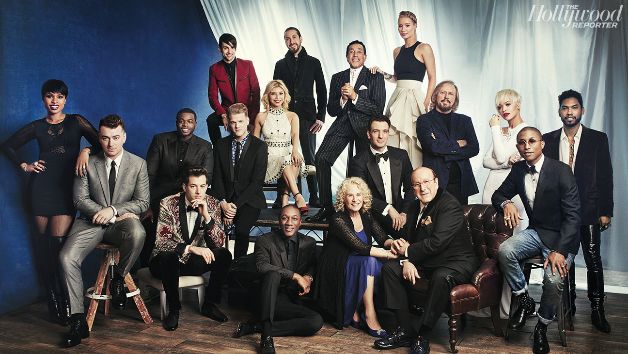 THR Clive Davis Grammy Party Class Photo - H 2015