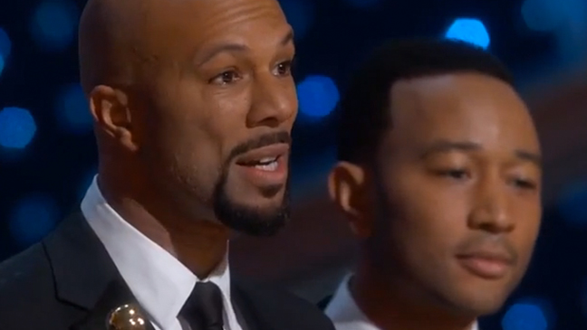 "Oscars 2015: Watch John Legend's and Common's Acceptance Speeches for Original Song for ""Glory"" (Video) Part 1"